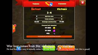 Clash Of Clans Clan Wars: War Loot & Aftermath