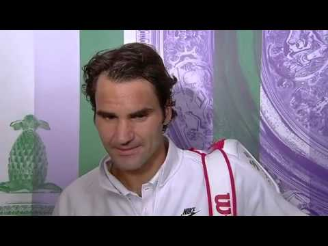 Roger Federer post-match interview - Wimbledon 2014