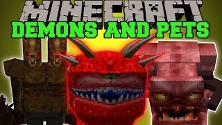 Minecraft: DEMONS AND PETS (EVIL MOBS, PETS AND BREEDING