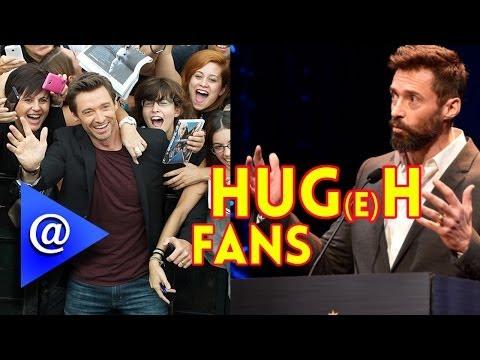 Fan Grabs Hugh Jackman at the Tony Awards