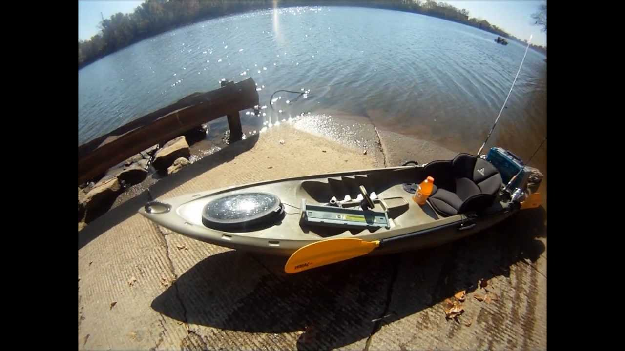 Gopro hero hd ascend fs12t kayak fishing setup bass pro for Bass pro fishing kayak