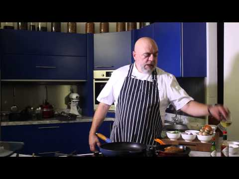 Chef Pete Goofe-Wood cooking with Tabasco
