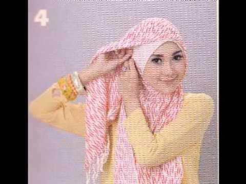 Cara Memakai Jilbab | Cara Memakai Jilbab Segi Empat | Tutorial Hijab
