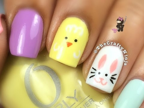 Easter Bunny Chick Nail Tutorial