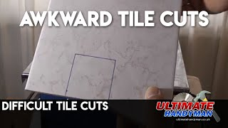 Difficult tile cutting