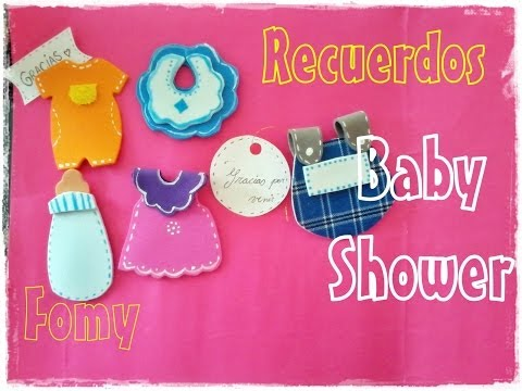 Recuerdos para Baby shower en fomy..Moldes de la Nona :D