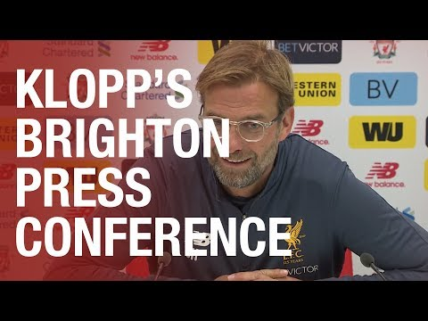 Jürgen Klopp's Brighton press conference from Melwood | Matip update, latest on Lallana and more
