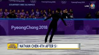Nathan Chen in fourth after short program on Thursday