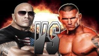 WWE12 The Rock VS Randy Orton