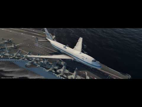 Flight Sim Funny Challenge #2 - Landing a Boeing 747 on a Carrier!
