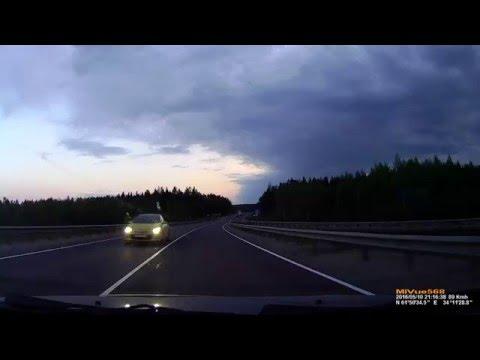 Около Петрозаводска машина столкнулась с лосем
