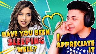Pokimane Cares About Myth! CUTEST DUO! Fortnite Battle Royale Highlights Moments!
