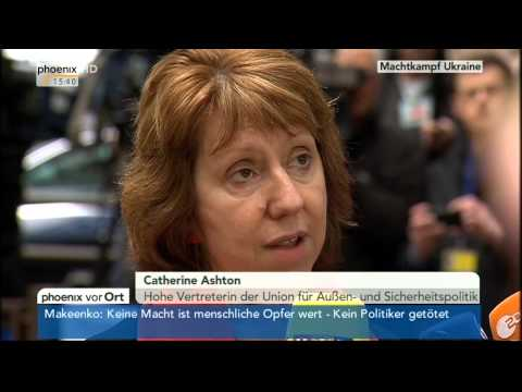 Gewalt in Kiew - Statement von Catherine Ashton am 20.02.2014