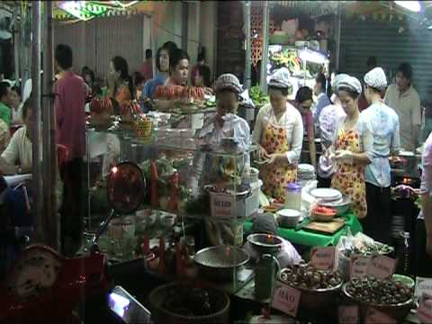 Saigon Night Market Food, Vietnam
