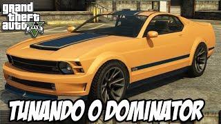 GTA V Tunando O Vapid Dominator (MUSTANG GT)