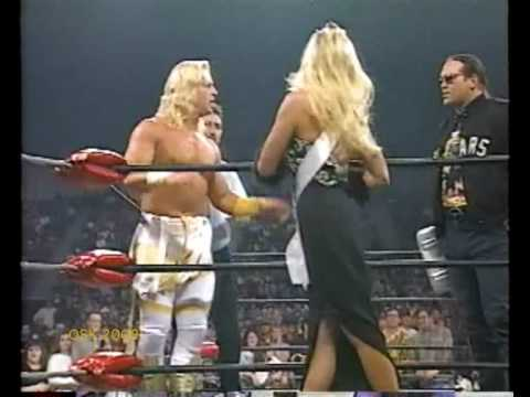 Jeff Jarrett Vs Arn Anderson w Ric Flair, Mongo &amp; Debra McMichael -6/1/97