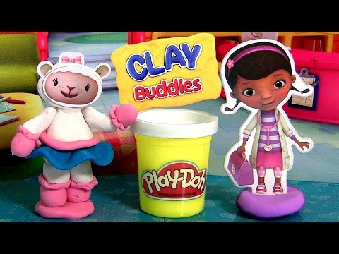 Play-Doh Clay Buddies Doc McStuffins & Lambie Playset Disney Junior Doctora Juguetes by Funtoys