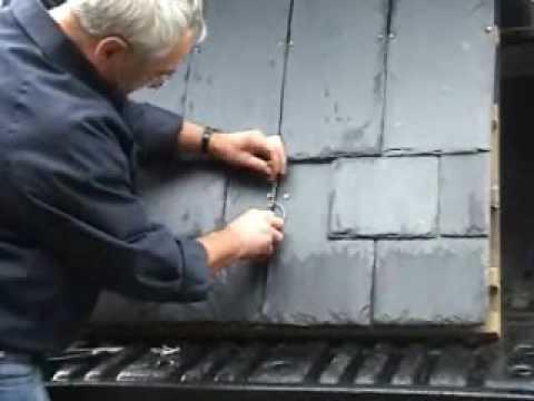 Repairing A Broken Roof Slate With New Hallhook Youtube
