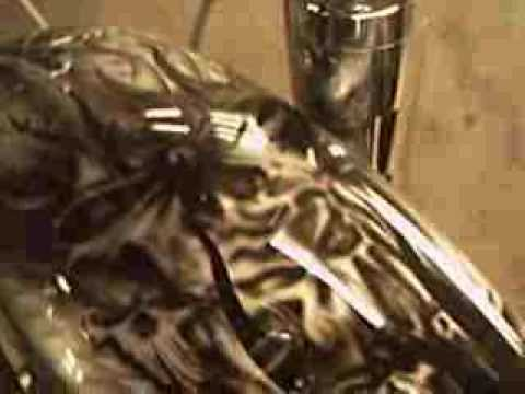 custom motorcycle airbrushing