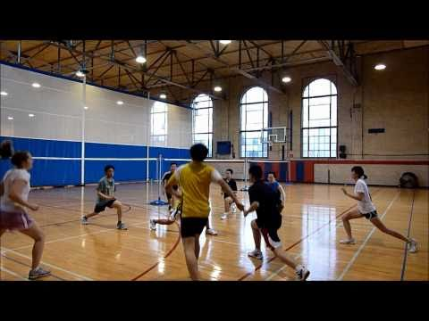Penn Badminton - Chinese Footwork Conditioning [1 of 2]