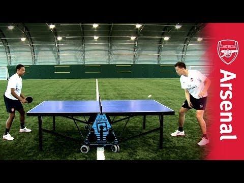 Wojciech Szczesny vs Alex Oxlade-Chamberlain: Extreme table tennis