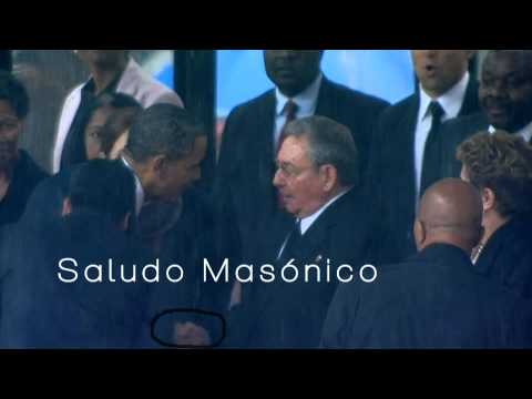Barack Obama and Raul Castro shake hands Illuminati way ( Masonic ShakeHand)