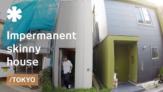 Tokyo's impermanent skinny house made to age well with owners