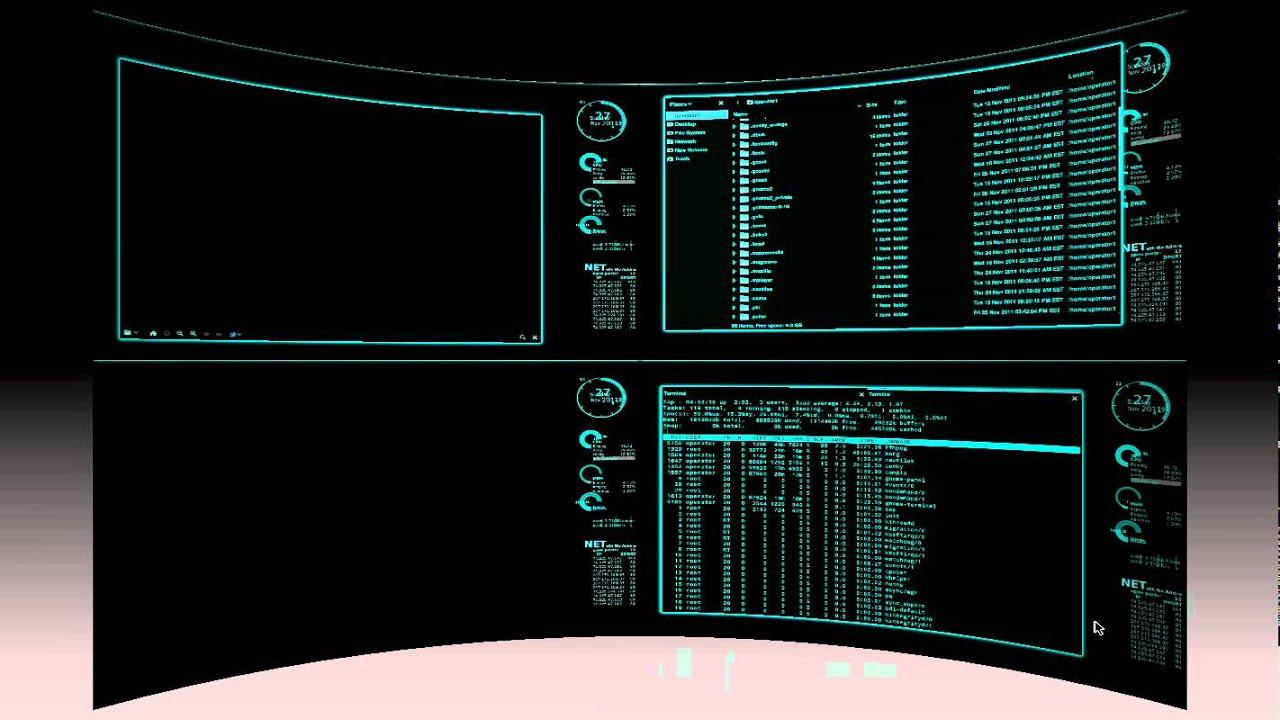 ... desktop computer displaying 12 images for futuristic desktop computer