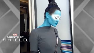 Marvel's Agents of S.H.I.E.L.D. -- Florence Faivre transforms into Sinara