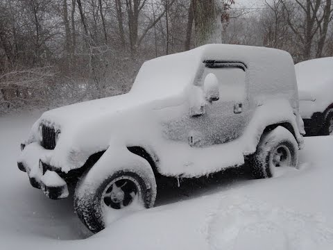 Winter Storm Jeep driving!