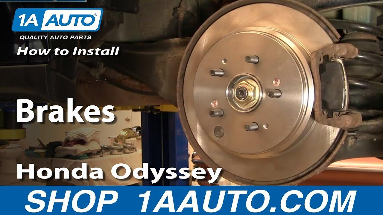 install replace rear brakes honda odyssey