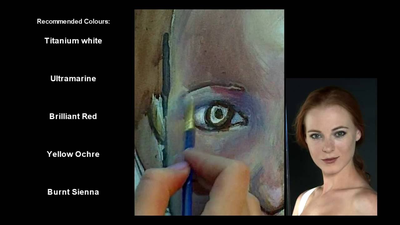 A beginners guide to drawing and painting an acrylic for How to paint portraits with acrylics for beginners