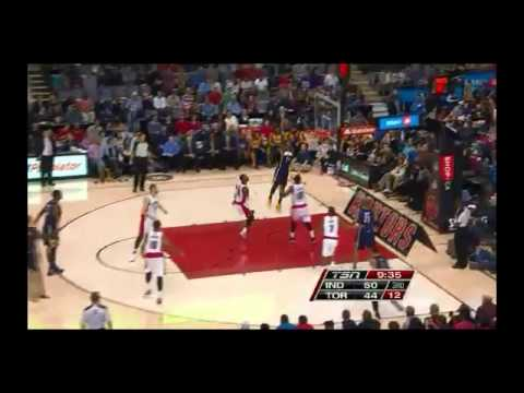 NBA CIRCLE - Indiana Pacers Vs Toronto Raptors Highlights 1 Jan. 2014 www.nbacircle.com
