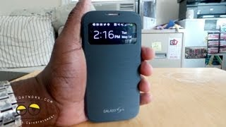 Samsung Galaxy S4 S-View Flip Cover Case Review