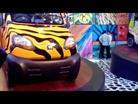Colorful Bajaj RE60 at 12th Auto Expo 2014 The Motor Show Greater Noida
