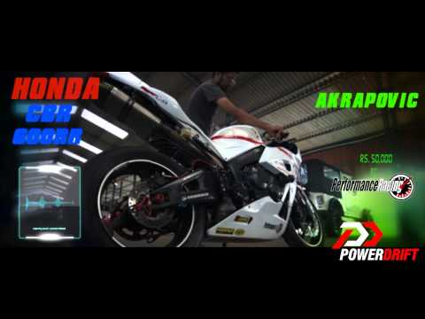 Honda CBR 600RR Akrapovic Exhaust Note : PowerDrift