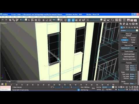 học 3d - dung 3d biet thu - Dựng hình biệt thự phố 2 mặt tiền