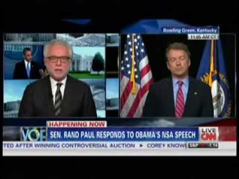 January 17 2014 Breaking News CNN Live President Barack Obama NSA Speech Rand Paul Slams Obama   You