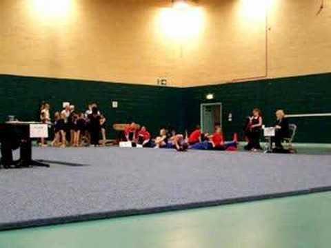 Jennifer Gardner Beginner Floor Routine - Gymnastics