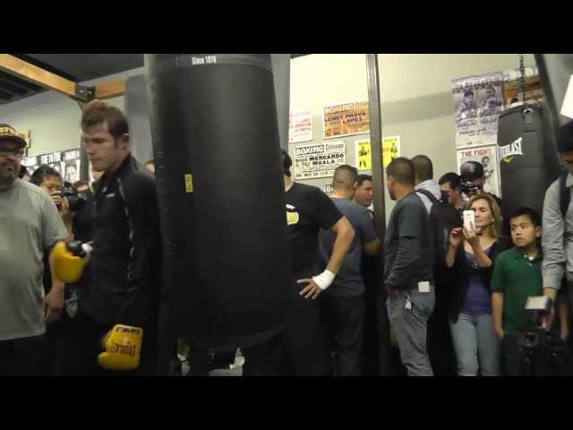 Canelo Alvarez vs Perro Angulo Canelo Workout on Heavy Bag Shows Power