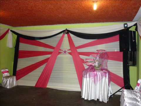 Decoraciones para fiestas de 15 a os y matrimonios youtube for Decoracion y ambientacion de eventos