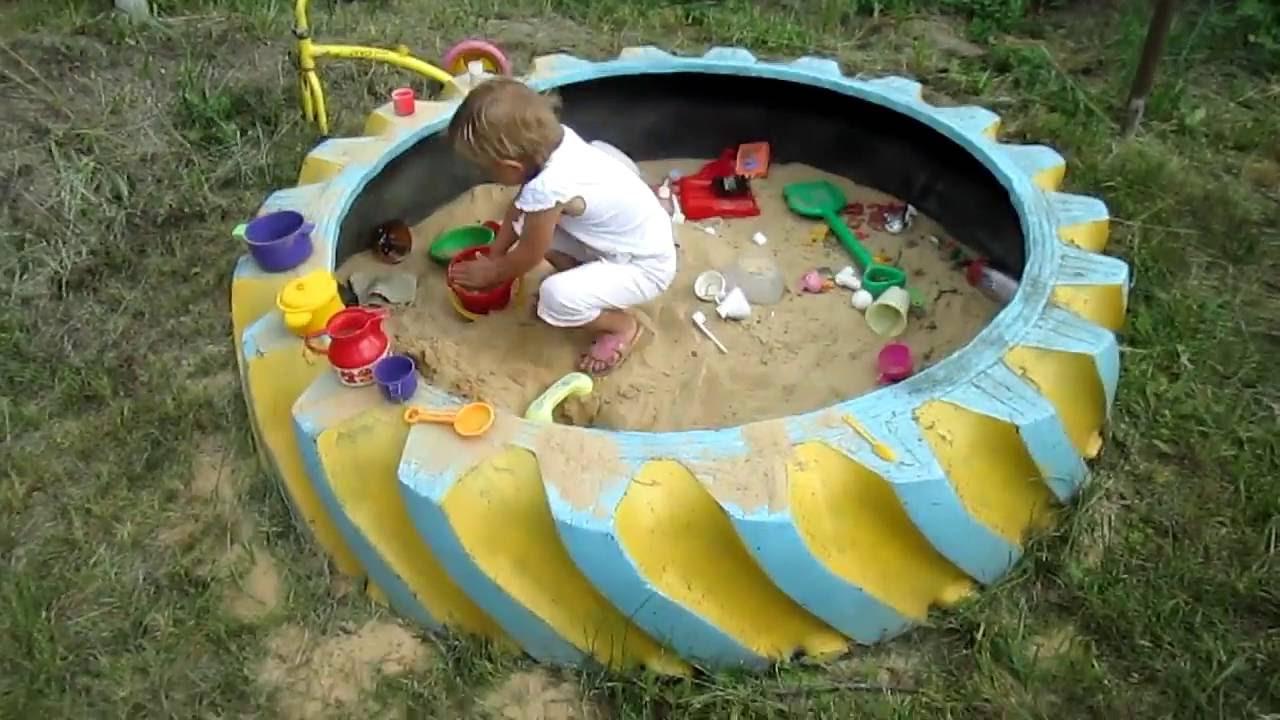 Что сделать на детскую площадку из подручных материалов 84