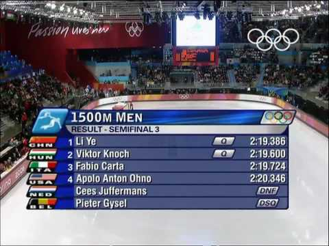 Short Track Speed Skating - Men's 1500M - Turin 2006 Winter Olympic Games