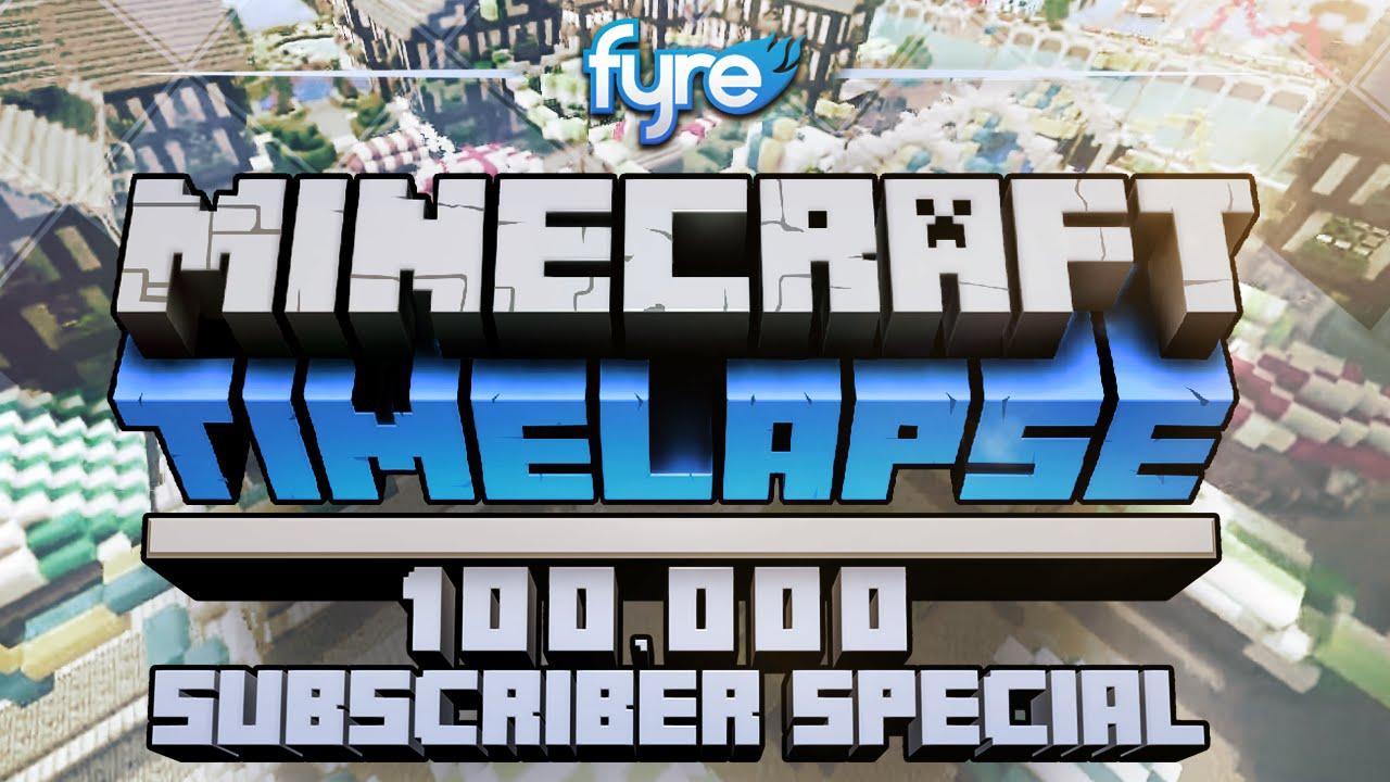 Скриншот для файла: Minecraft Timelapse - 100,000 Subscriber Special