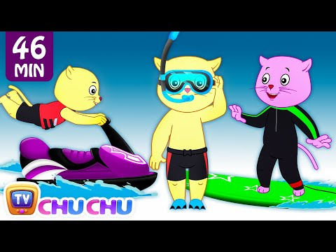 Three Little Kittens Went To The Beach - Nursery Rhymes by Cutians™ | ChuChu TV Kids Songs