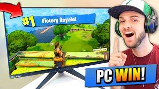My 1st VICTORY ROYALE on Fortnite: Battle Royale PC!