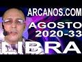 Video Horóscopo Semanal LIBRA  del 9 al 15 Agosto 2020 (Semana 2020-33) (Lectura del Tarot)
