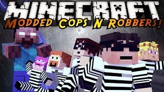 Minecraft Mini-Game : MODDED COPS N ROBBERS! HEROBRINE ATTACK!