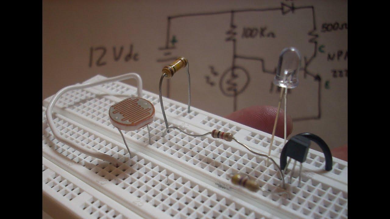 Montaje detector de luz youtube - Detector de luz ...