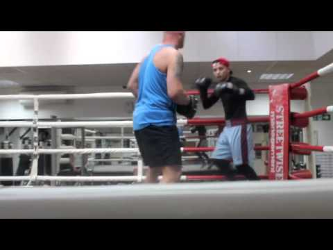 MITCHELL SMITH PAD WORK OUT FOOTAGE WITH TRAINER JASON ROWLAND / PRO SW GYM